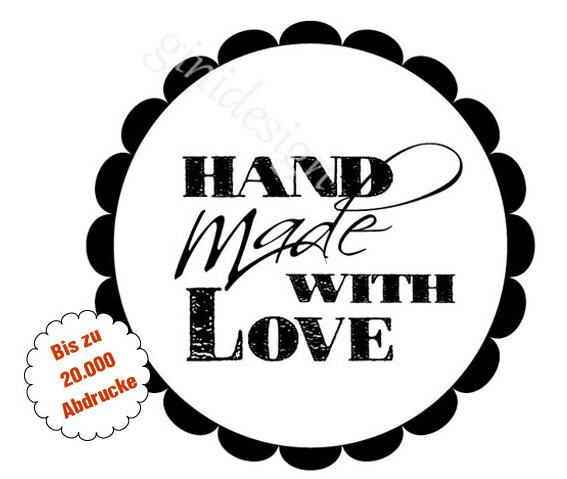 Stempel - handmade with love -